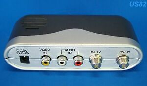 RCA in COAX out CABLE ADAPTER TV AV COAXIAL TO RCA CONVERTER AUDIO VIDEO. us