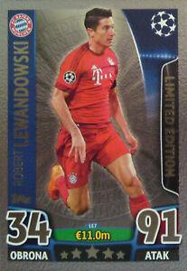 Topps Champions League Match Attax 15/ 16 Silver Limited Edition Lewandowski LE7