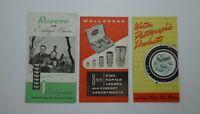 Vintage 3 Lot Revere Weston Wollensak Film Photographic Brochures