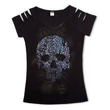 Harley-Davidson T-Shirt Biker Short Sleeves Woman Tel Aviv Israel Black