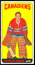 1964 65 TOPPS TALL BOYS HOCKEY #17 CHARLIE HODGE NM MONTREAL CANADIENS CARD