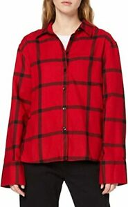 Cheap Monday Ladies Tension Check Shirt Black / Red size XS new with tag  #56