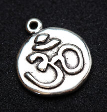 Vintage Sterling Silver OHM Pendant Charm STAMPED Not Scrap Antique Yoga Buddha