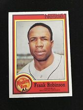 "FRANK ROBINSON RETRO ""MODERN ERA"" ODD BALL ""NESTLE"" 1987 ORIOLES BASEBALL CARD"