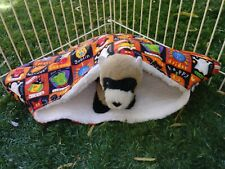 Ferret Luxury Sherpa Lined Corner Cubby - Halloween Squares