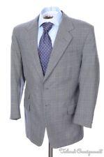 STRICKLAND & SONS Savile Row Gray Plaid Wool Jacket Pants SUIT Bespoke 42 R