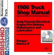 1986 Ford Bronco II Ranger Shop Service Repair Manual CD Engine Drivetrain OEM