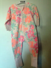 Bonds Zip Wondersuit Neon Floral Sz 00 (c40)