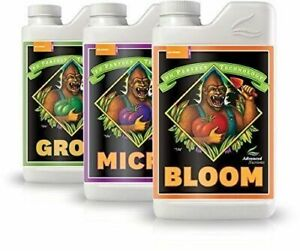 Advanced Nutrients Grow, Micro, Bloom Bundle pH Perfect Base GMB 1 Liter