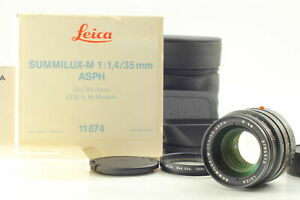 BOXED【UNUSED】Leica Summilux M 35mm f1.4 ASPH Black Lens for Leica M From JAPAN