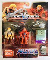 Mega Construx Pro Builder MOTU Masters of the Universe HE-MAN Vs BEAST MAN New👍