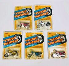 NIB 1981 Lot of 5 Tough Wheels Motorcycle Unpunched Harley Honda Kawasaki Yamaha