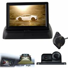 "4.3"" Foldable LCD Rear View Monitor Car Reverse Parking Camera With Radar Sensor"