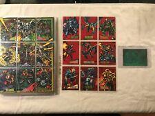 1993 SkyBox Marvel Universe Series IV Card Set, 2099 Red Foil Set + 3D Hologram