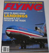 Flying Magazine Vol 120 No 6 June 1993 How To Make Good Landings Morgan's 727