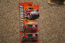 2011 Matchbox City Action Aqua King Delivery Truck Diecast Car Lot of 2: NIP RED
