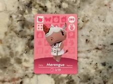 Merengue #285 Animal Crossing Amiibo Series 3 Card In Mint Condition