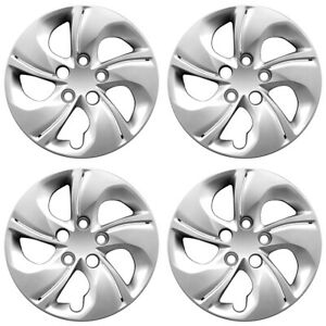 15' 5 Twisted Spoke Silver Wheel Cover Hubcaps for 2013-2015 Honda Civic