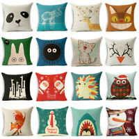 "18""*18"" Cartoon Animal Cotton Linen Pillow Case Cushion Cover Fashion Home Decor"