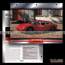 #095.03 ★ DE TOMASO VALLELUNGA 1965 ★ Fiche Auto Car card