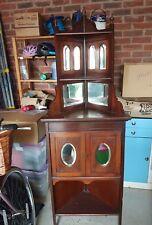 Victorian rose wood mirrored corner unit