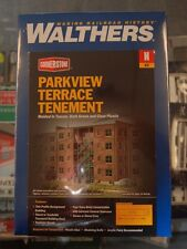 """N Walthers Cornerstone kit 933-3263 * Parkview Terrace Tenement """"Background"""""""