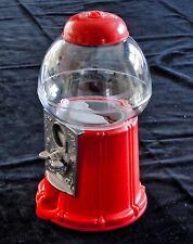 RED BUBBLE GUM MACHINE / MONEY BOX VINTAGE STYLE ....NEW