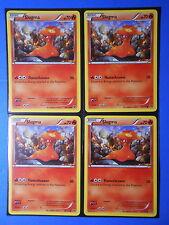 4x Pokemon XY Slugma 20//146 Common Card