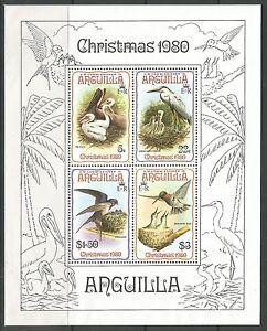 ANGUILLA. 1980. Christmas Birds Miniature Sheet. SG: MS420. Mint Never Hinged