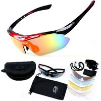 Cycling Sunglasses 5 Lens Set MTB Bike Bicycle Riding Sports Sun Glasses Goggles