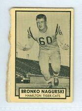 Bronko Nagurski 1962 Topps '62 Vintage Football Card #72 VG Hamilton Tiger-Cats