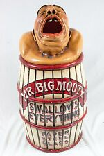 Vintage Mr Big Mouth Amusement Park Circus Side Show Trash Garbage Can