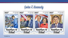 Chad JFK Stamps 2020 MNH John F Kennedy US Presidents Famous People 4v M/S