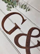 Ruggine Metallo Alfabeto Lettere Numeri @ & da Parete Giardino Cucina Corto 15cm
