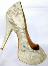 Vince Camuto Women's Milesy2 Snake Print Peep Toe Heels Shoes Size 6B