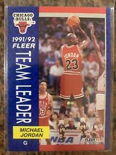 1991 - 1992 Fleer Michael Jordan Chicago Bulls #375 Team Leader Basketball Card