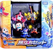5pcs Takara Tomy Pokemon Moncolle EX Sun Moon Journey Set Tabidach Mini Figure