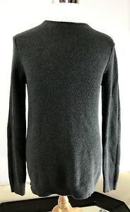 21 Men Gray Long Sleeve M Mens Crew Neck Cotton Thin Knit Pullover Sweater  L39c