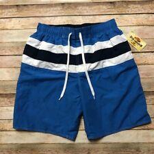 Newport Blue White Drawstring Blue Mens Swimming Trunks M Pockets