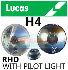 "LUCAS 5.75"" 5 3/4"" INCH CLASSIC CAR HEADLAMP HEADLIGHT HALOGEN H4 CONVERSION"