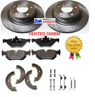 FITS BMW 1 SERIES E87 118D 120D 04-12 REAR BRAKE DISCS PADS & SHOES FITTING KIT