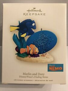 Hallmark Keepsake Finding Nemo Marlin & Dory Disney Pixar Christmas Ornament '07
