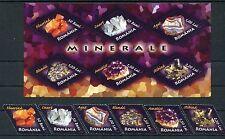 Romania 2006 Minerals,Gems,Mine flowers,Quartz,Ametiste set+block MNH OG