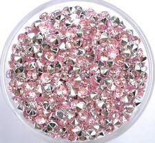 Wholesale 1000pcs Acrylic Crystal Rhinestone Bicone Point Back Beads 3MM 4MM