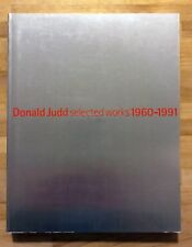 Donald Judd artist: Selected Works 1960-1991 RARE Japanese / English Text