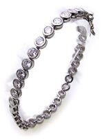 Damen Tennis Armband echt Silber 925 Zirkonia 5,3 mm breit Sterlingsilber Neu