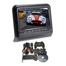 """Beige 9"""" HD Digital LCD Screen Car Pillow Headrest Monitor Mount DVD Player USA"""