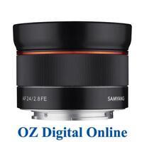 New Samyang AF 24mm f/2.8 FE Lens for Sony E Mount 1 Year Aust Wty