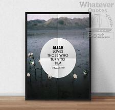 ALLAH / ISLAM / MUSLIM / Prophet Muhammad - Quote Poster Print Life + Frame
