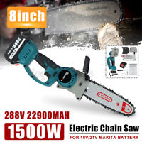 "8"" 1500w Cordless Electric Chainsaw Ever Battery-Powered Wood Cutter Rechargeabl"